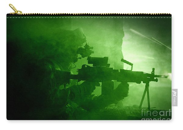 Night Vision View Of A U.s. Army Ranger Carry-all Pouch
