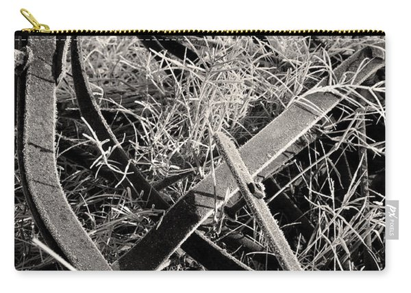 Carry-all Pouch featuring the photograph No More Plowing by Ron Cline