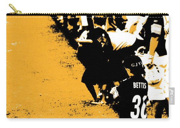 Number 1 Bettis Fan - Black And Gold Carry-all Pouch