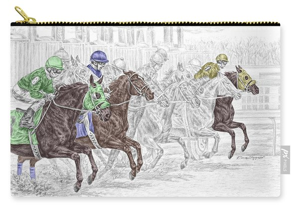 Odds Are - Tb Horse Racing Print Color Tinted Carry-all Pouch