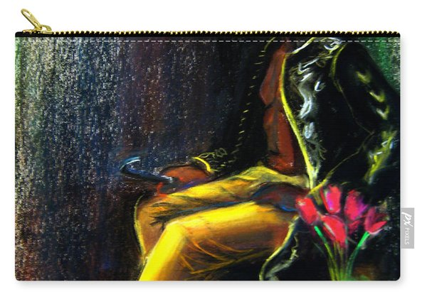 Carry-all Pouch featuring the drawing Odelisque by Gabrielle Wilson-Sealy