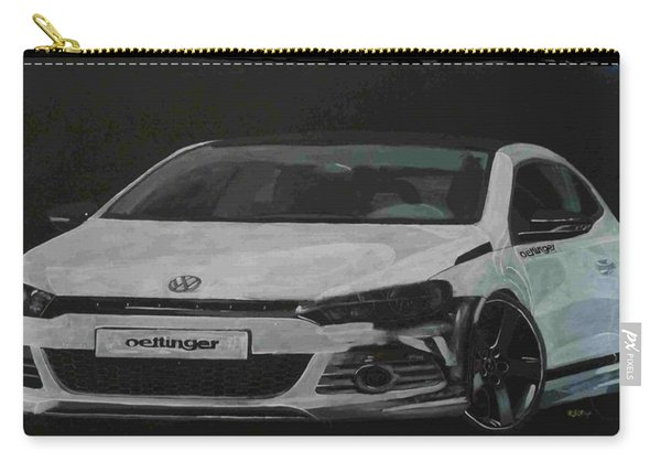 Carry-all Pouch featuring the painting Oettinger Vw Scirocco  by Richard Le Page
