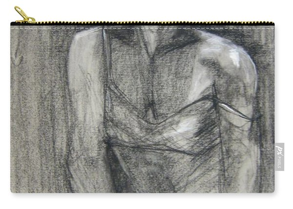 Carry-all Pouch featuring the drawing Off The Shoulder by Gabrielle Wilson-Sealy