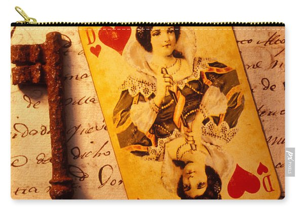 Old Playing Card And Key Carry-all Pouch