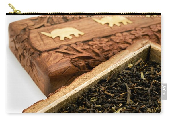 Ornate Box With Darjeeling Tea Carry-all Pouch