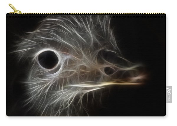 Ostrich Fractalius Carry-all Pouch