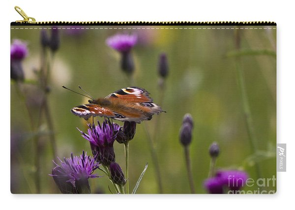 Peacock Butterfly On Knapweed Carry-all Pouch