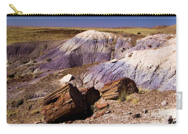 Petrified Logs In The Badlands Carry-all Pouch