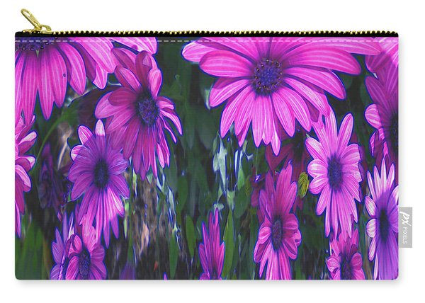 Pink Flower Power Carry-all Pouch