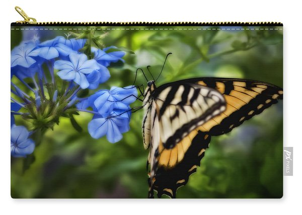 Plumbago And Swallowtail Carry-all Pouch