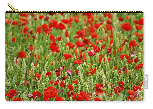 Poppies In Rye Carry-all Pouch