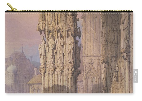 Porch Of Regensburg Cathedral Carry-all Pouch