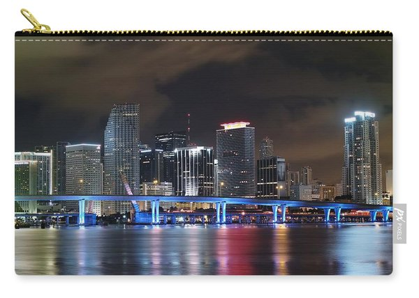 Port Of Miami Downtown Carry-all Pouch