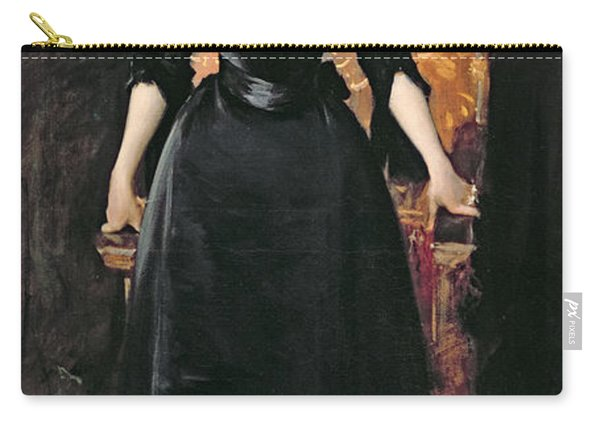 Portrait Of A Lady In Black Carry-all Pouch
