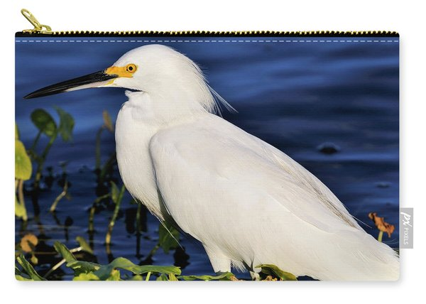 Profile Of A Snowy Egret Carry-all Pouch