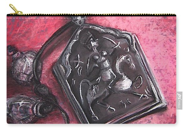 Carry-all Pouch featuring the drawing Protection by Gabrielle Wilson-Sealy