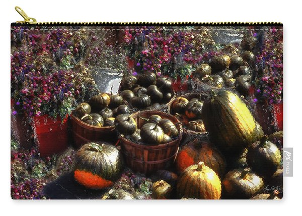 Carry-all Pouch featuring the photograph Pumpkin Impressions by Wayne King