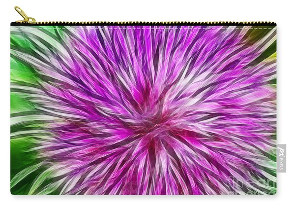 Purple Flower Fractal Carry-all Pouch