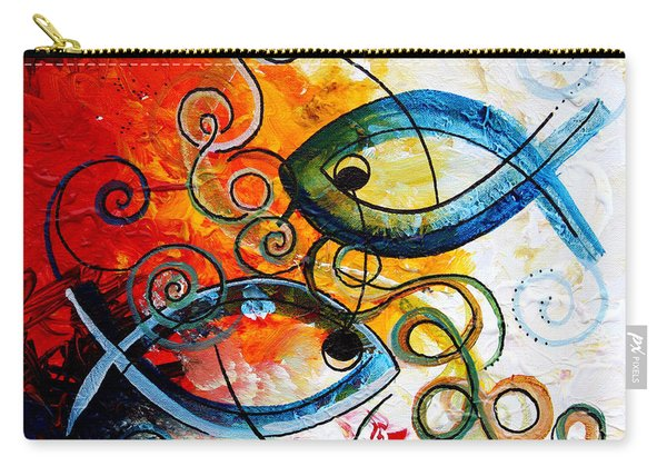Purposeful Ichthus By Two Carry-all Pouch