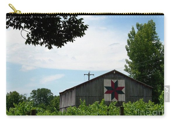 Quilted Barn And Vineyard Carry-all Pouch