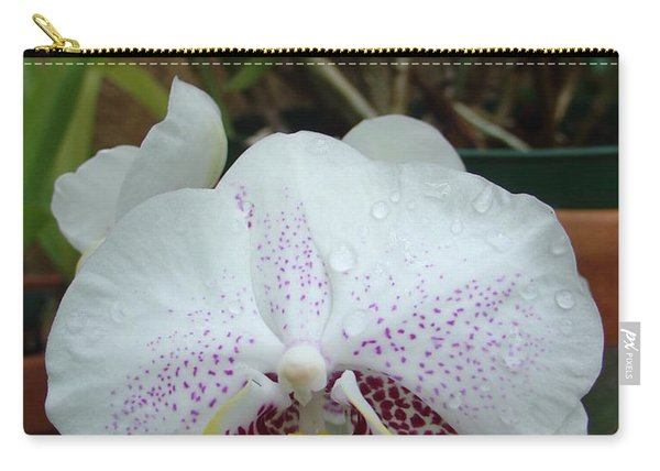 Rain Drops On Orchid Carry-all Pouch