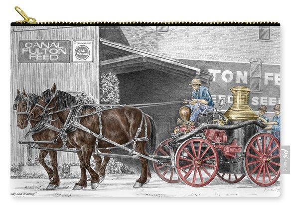 Ready And Waiting - Canal Fulton Ohio Fire Engine Print Carry-all Pouch