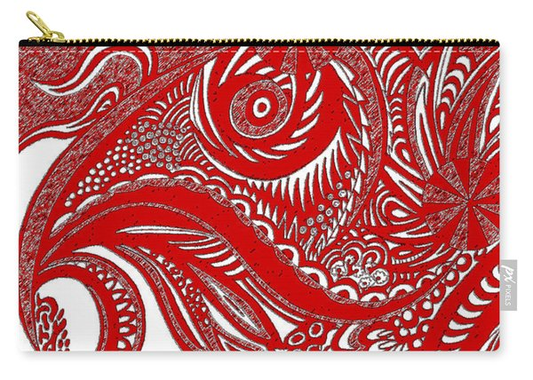 Red Chicken Carry-all Pouch