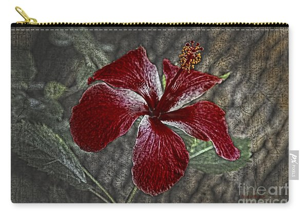 Red Hibiscus Decked Out Carry-all Pouch