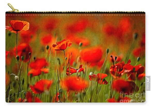 Red Poppy Flowers 02 Carry-all Pouch