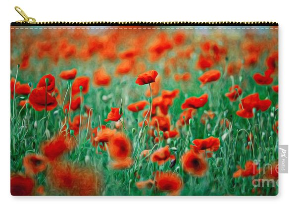 Red Poppy Flowers 04 Carry-all Pouch