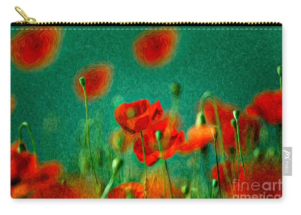 Red Poppy Flowers 07 Carry-all Pouch