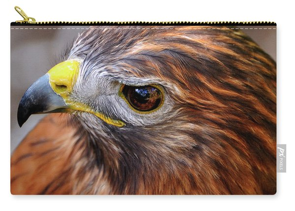 Red-tailed Hawk Close Up Carry-all Pouch