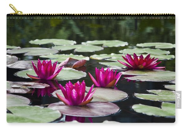 Red Water Lillies Carry-all Pouch