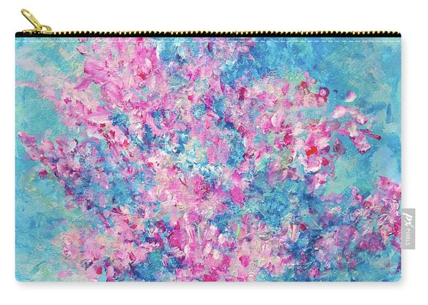 Carry-all Pouch featuring the painting Redbud Special by Nancy Cupp