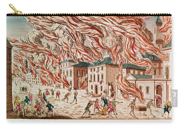 Representation Of The Terrible Fire Of New York Carry-all Pouch