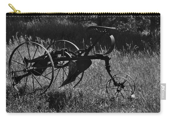 Carry-all Pouch featuring the photograph Retired Farmer by Ron Cline