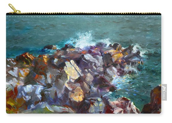 Rocks Against The Ocean  Carry-all Pouch