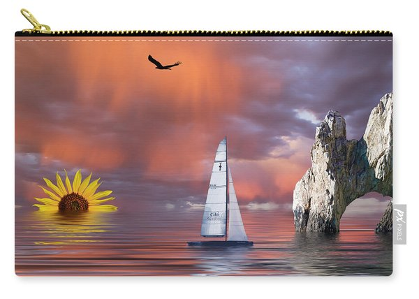 Sailing At Sunset Carry-all Pouch
