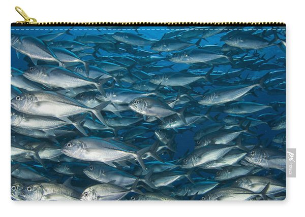 School Of Bigeye Trevally With Diver Carry-all Pouch