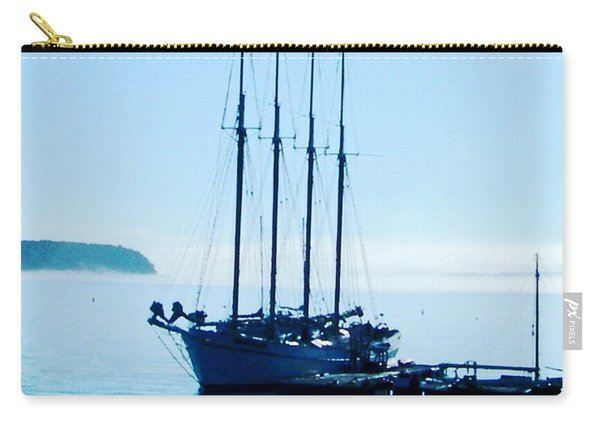 Schooner At Dock Bar Harbor Me Carry-all Pouch
