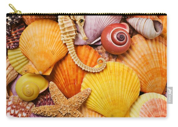 Sea Horse Starfish And Seashells  Carry-all Pouch