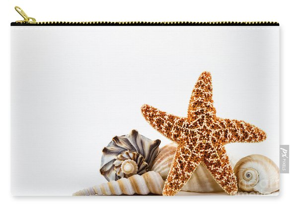 Seashells And A Starfish. Carry-all Pouch