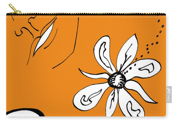 Serenity In Orange Carry-all Pouch