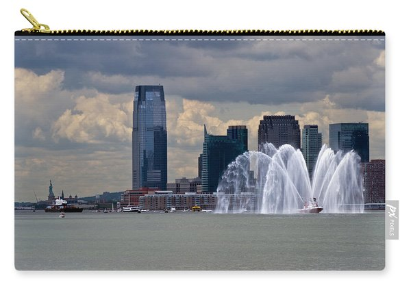 Shuttle Enterprise And Fire Boat Carry-all Pouch
