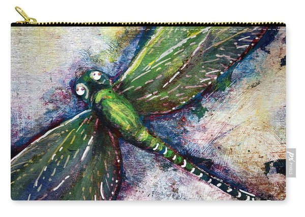Silver Dragonfly Carry-all Pouch