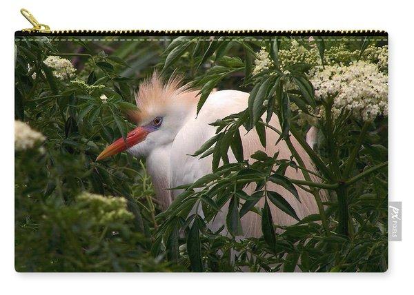 Sleepy Egret In Elderberry Carry-all Pouch