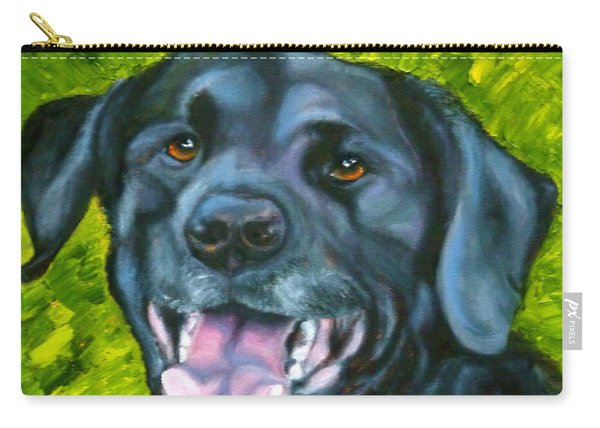 Smiling Lab Carry-all Pouch