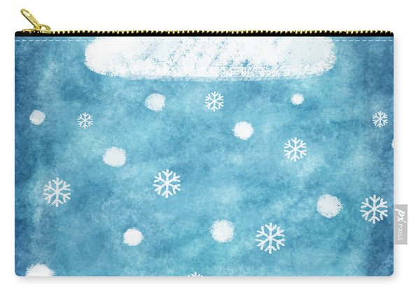 Snow Winter Carry-all Pouch
