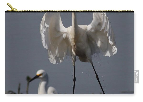 Snowy Egret . They Call Me Happy Feet Too . 7d12044 Carry-all Pouch