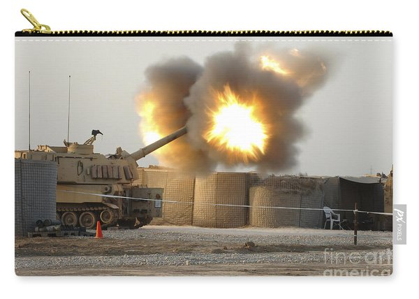 Soldiers Fire The Howitzers Carry-all Pouch